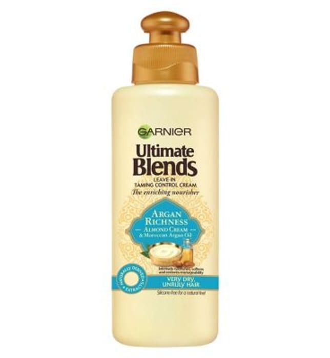 Garnier Ultimate Blends Argan Oil Almond Leave in Conditioner 200ml - Save £3!