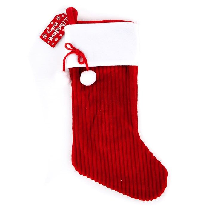 Traditional Red & White Christmas Stocking