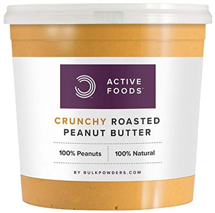 Natural Roasted Peanut Butter Crunchy Tub, 1 Kg - 33% Off!