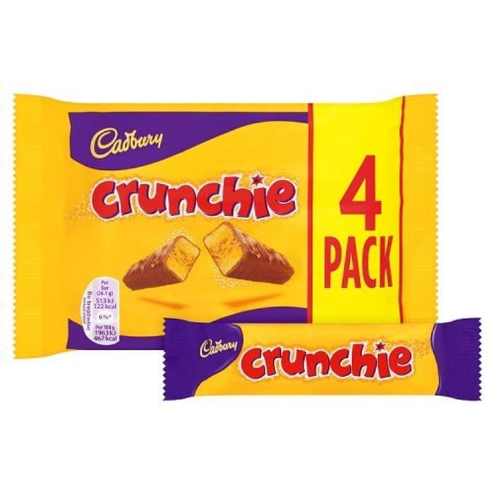 Best Ever Price! Cadbury Crunchie Chocolate Bar, 4x26.1g - Almost HALF PRICE!