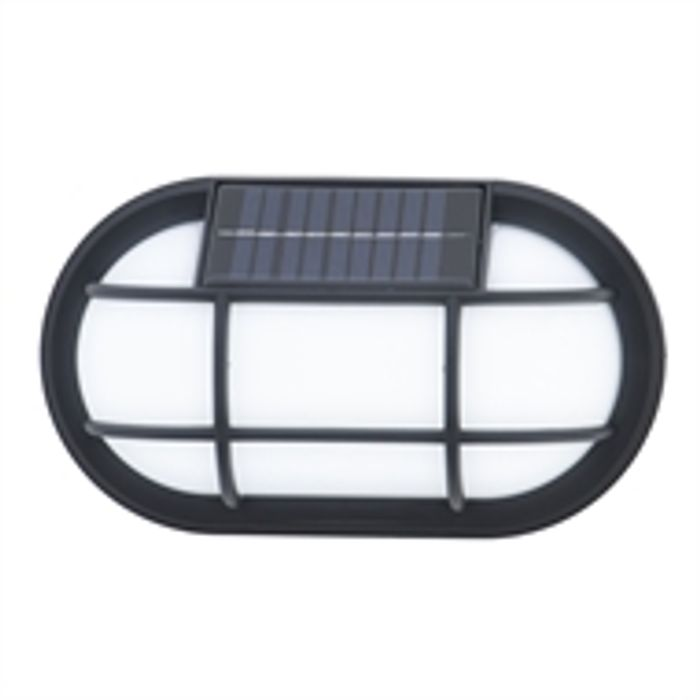 Norton Black Solar LED Wall Light
