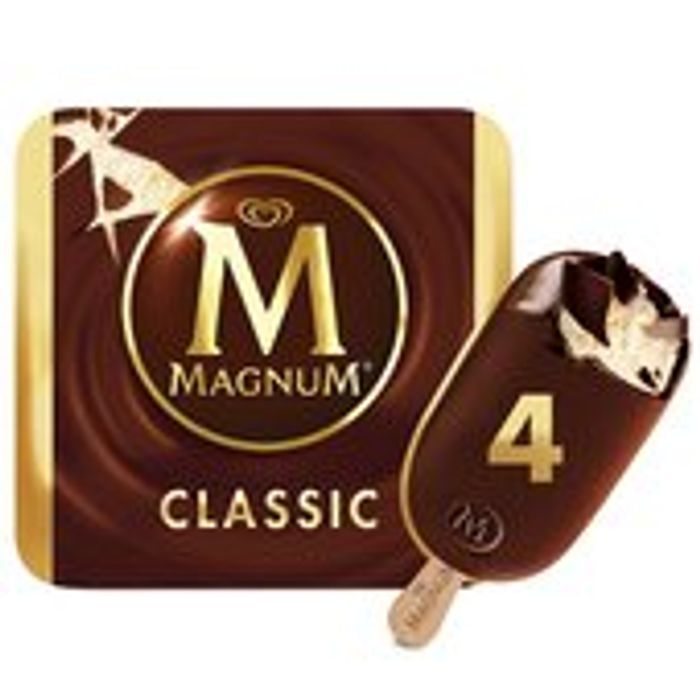 Magnum Classic Ice Cream Sticks 4 X 110ml