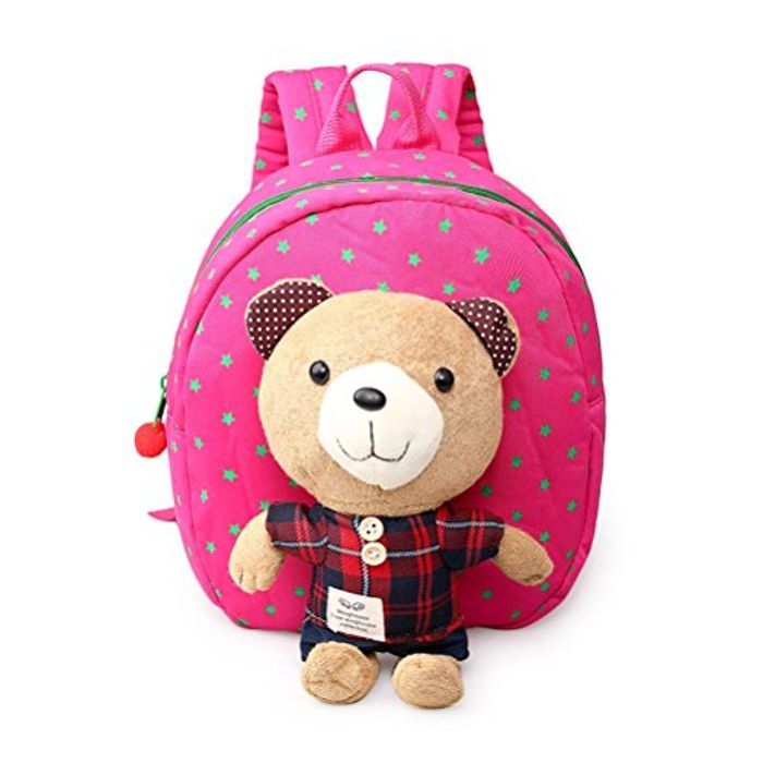 Kids Toddler Backpack W/ Safety Harness Rein & Detachable Bear Toy