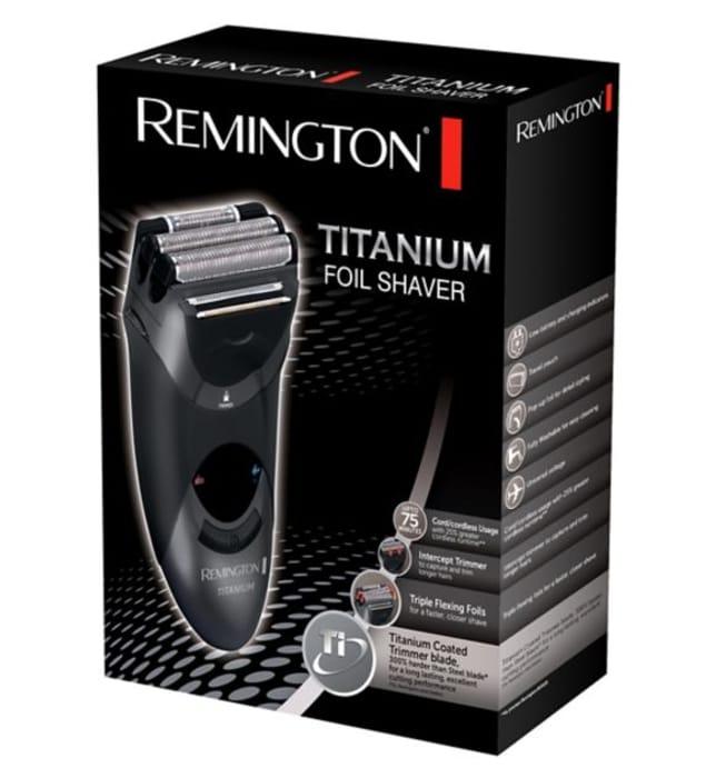 Exclusive Remington Titanium Triple Foil Electric Shaver MS5120