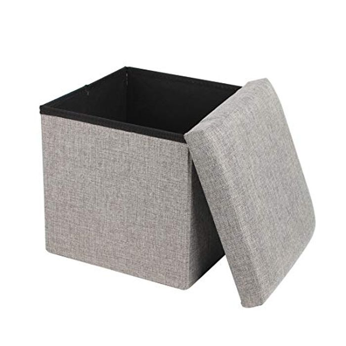 Best Price Queiting Folding Storage Ottoman Storage Box Seat with FREE DELIVERY
