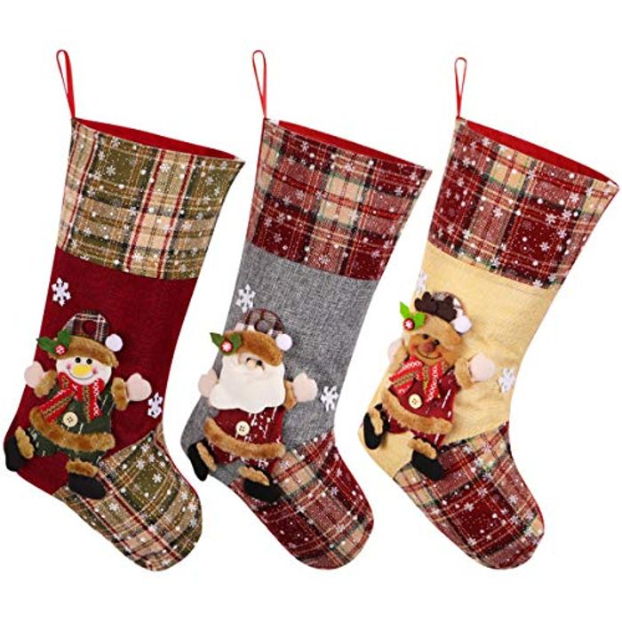 Toyvian Christmas Stocking Set of 3 - 55% Off!