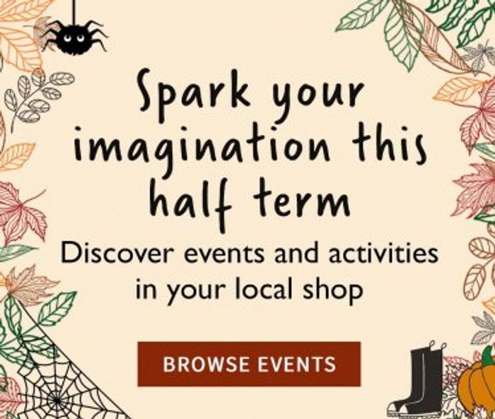 Half Term Activities at Waterstones Stores
