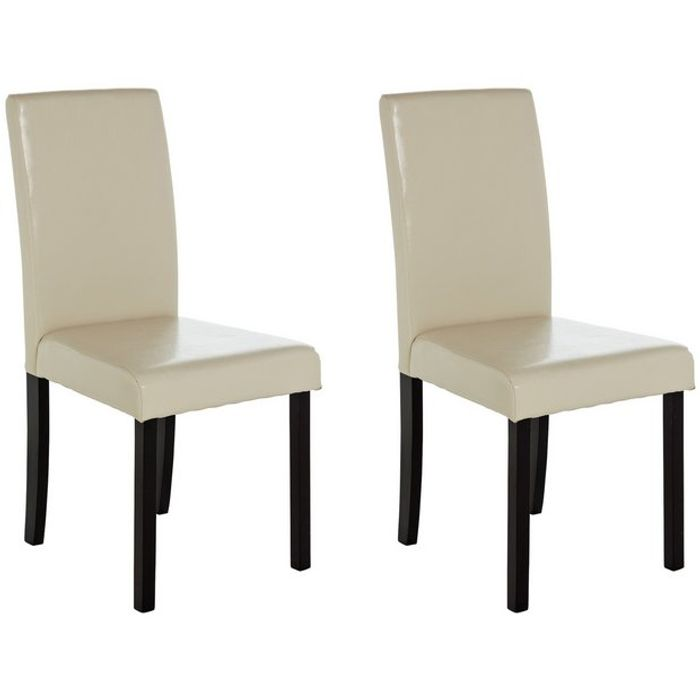 Argos Home Pair of mid Back Leather Effect Chairs - Save £40!