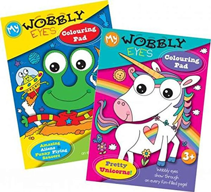 Wobbly Eyes Colouring Pad Only £1!