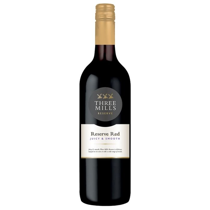 Three Mills Reserve Red Wine 75cl Buy 3 for £10