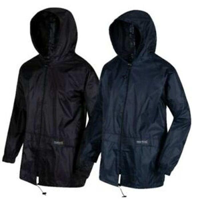 Regatta Mens Stormbreak Waterproof Hooded Jacket Black Blue - 45% Off!