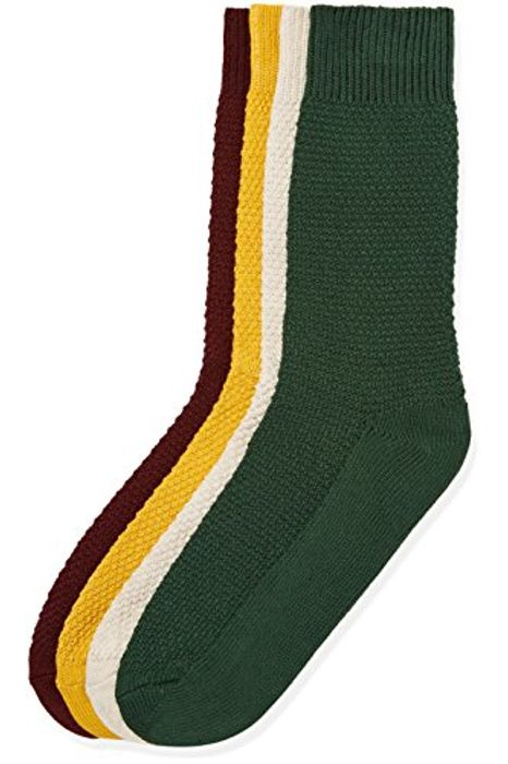 Amazon Brand - Find. Men's Socks Waffe Texture, Pack of 4