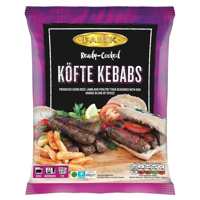 Babek Ready-Cooked Kofte Kebabs 600g