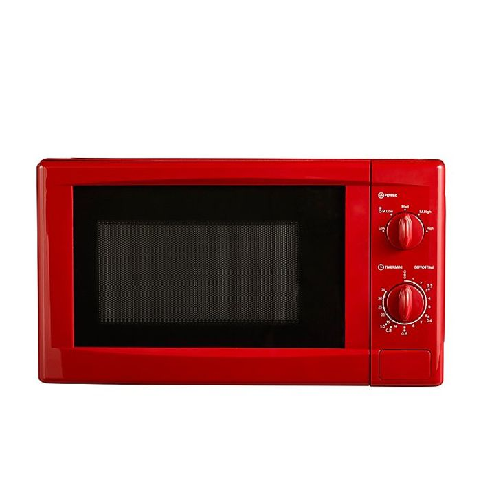 Manual 700W Microwave - Red