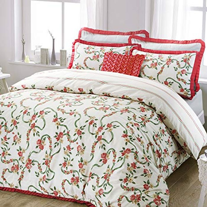Catherine English Rose Trail Floral Quilt Duvet Cover King FREE DELIVERY
