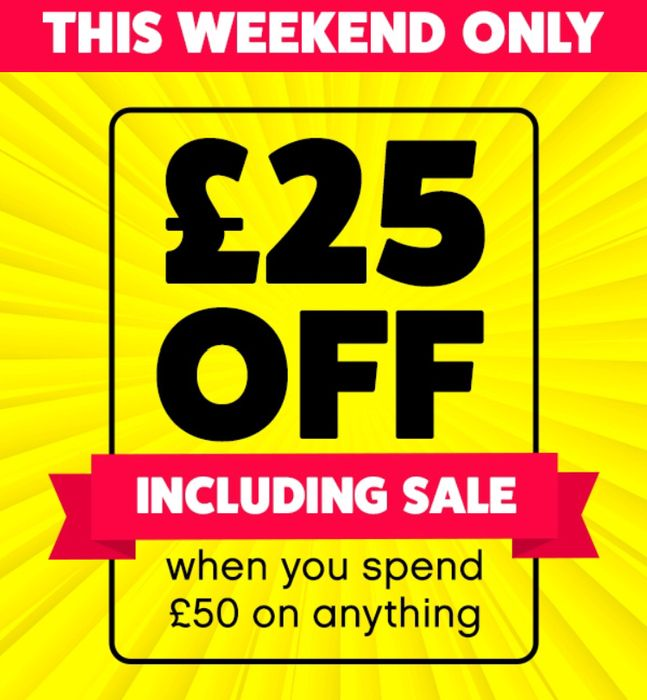 £25 off a £50 Spend Works on 70% off Sale