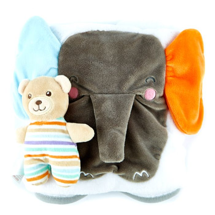 Teeny Wonders Snoozy Snuggle Baby Blanket & Soft Toy Set
