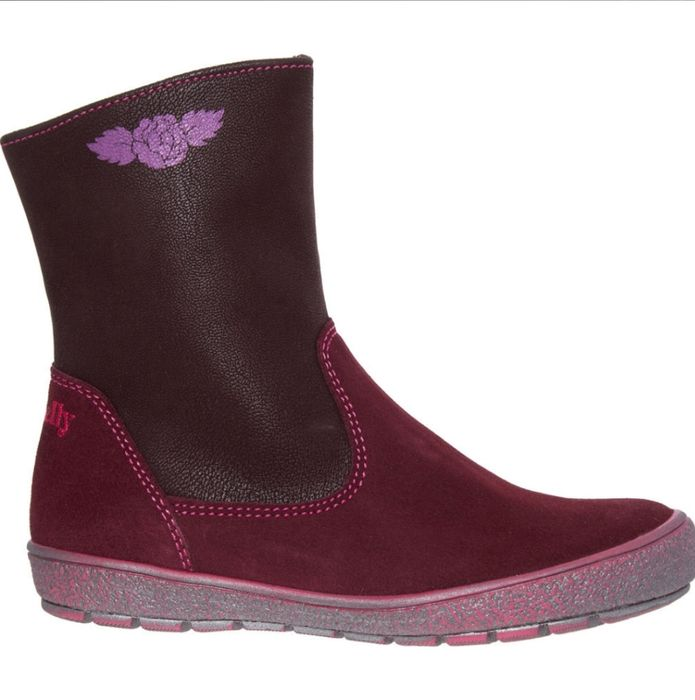 LELLI KELLY Burgundy Suede Ankle Boots
