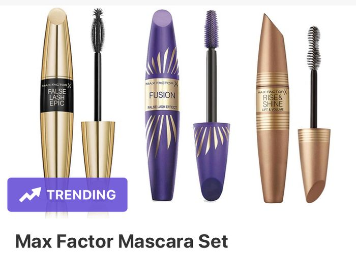 Max Factor Set of 3 Mascaras - 76% Saving