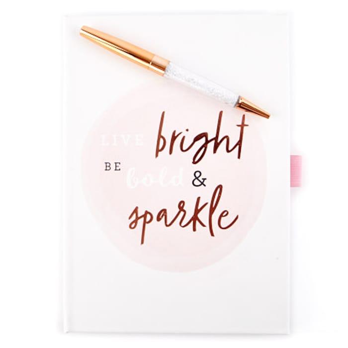 Notebook & Sparkle Pen Set