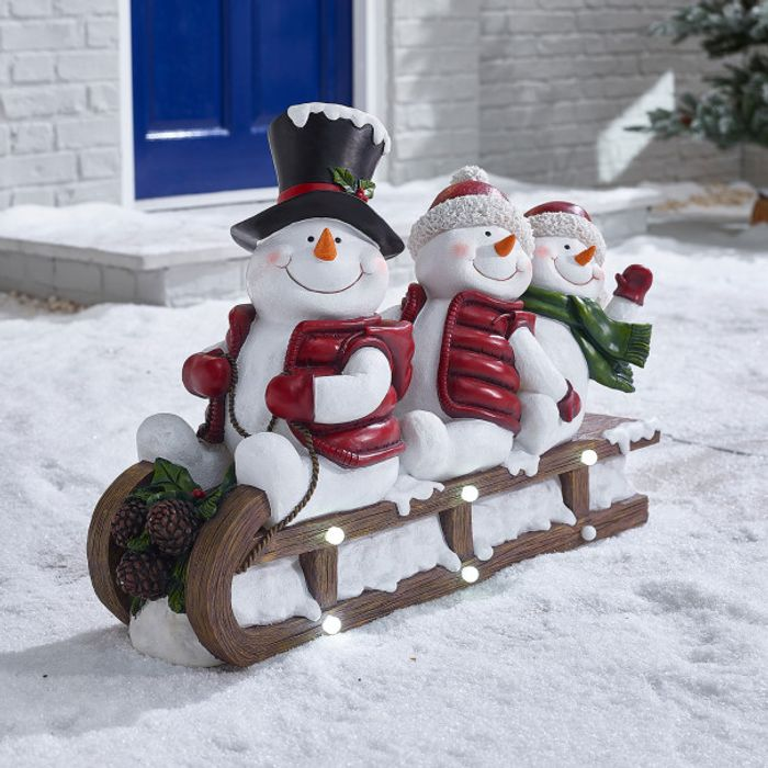 *SAVE £40* the 78cm Speedy Christmas Snowman Family on Sledge