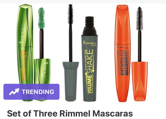 Cheap Set of Three Rimmel Mascaras, reduced by £15.94!
