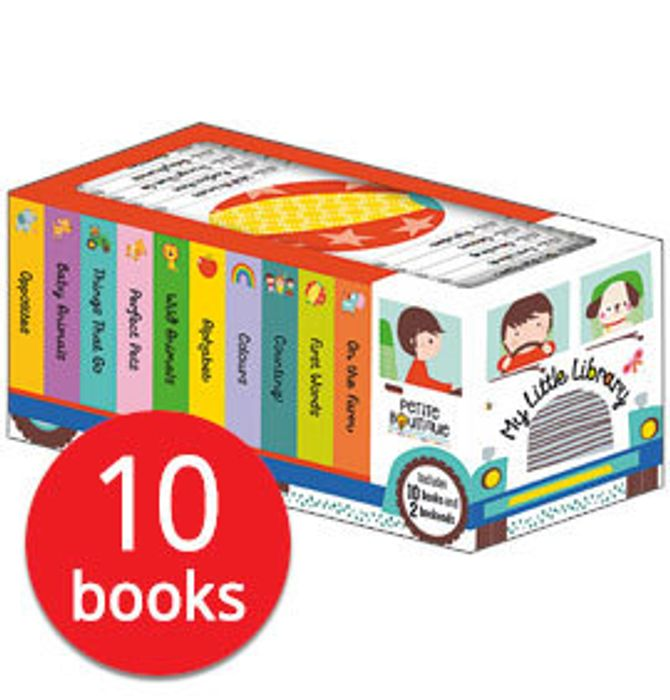 Petite Boutique: My Little Library Truck Bookends - 10 Books