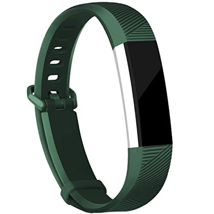 Strap Bands Compatible for Fitbit Alta/Alta HR (LG & SM Olive + Champagne)