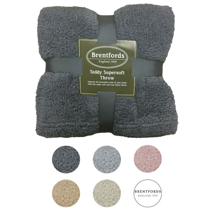 Teddy Bear Fleece Throws £6.75 Single, £8.50 Double & £10.95 King Size Delivered