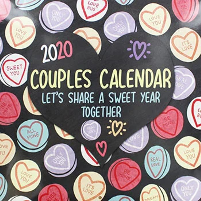 Couples 2020 Square Calendar
