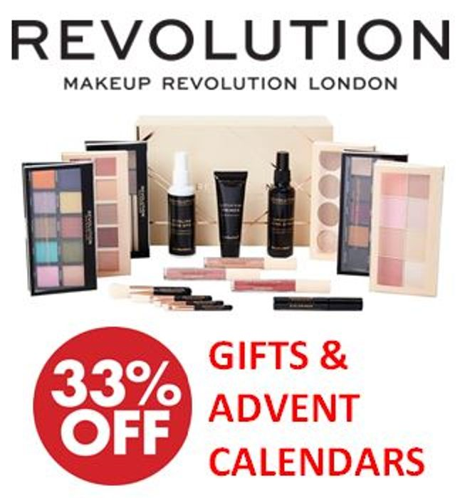 1/3 off Revolution Beauty Gift Sets & Advent Calendars!