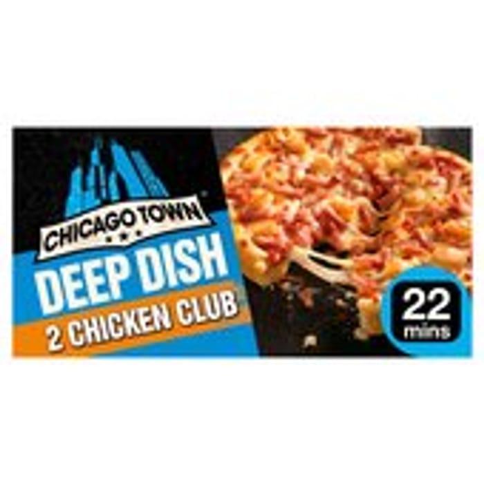 Chicago Town Deep Dish Chicken Club Pizzas 2 X 160g