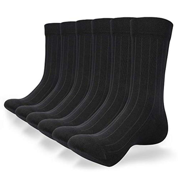 6 Pairs Unisex Cotton Work Socks