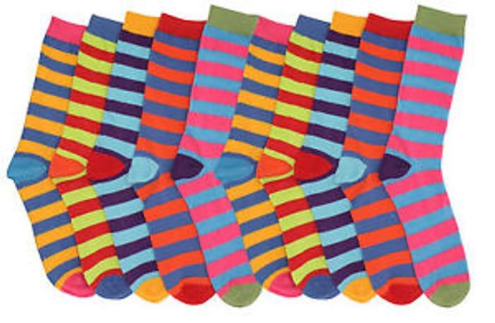 6 Pairs Funky Multi Coloured Socks