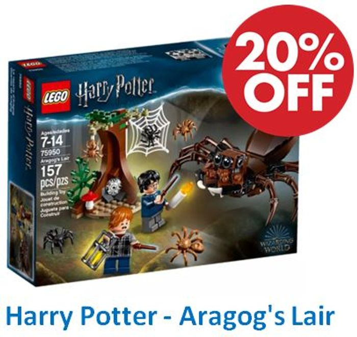 Cheap LEGO Harry Potter 75950 Aragog's Lair, reduced by £2.6!