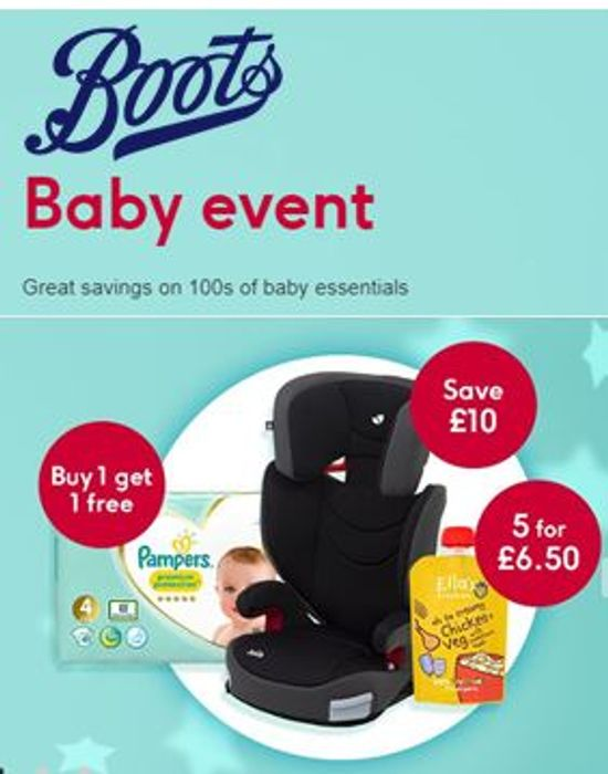 BOOTS BABY EVENT - on Now! Deals, Offers & Discounts!