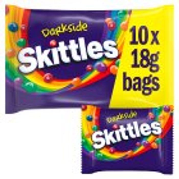 Skittles Dark Funsize 10x Bags per Pack
