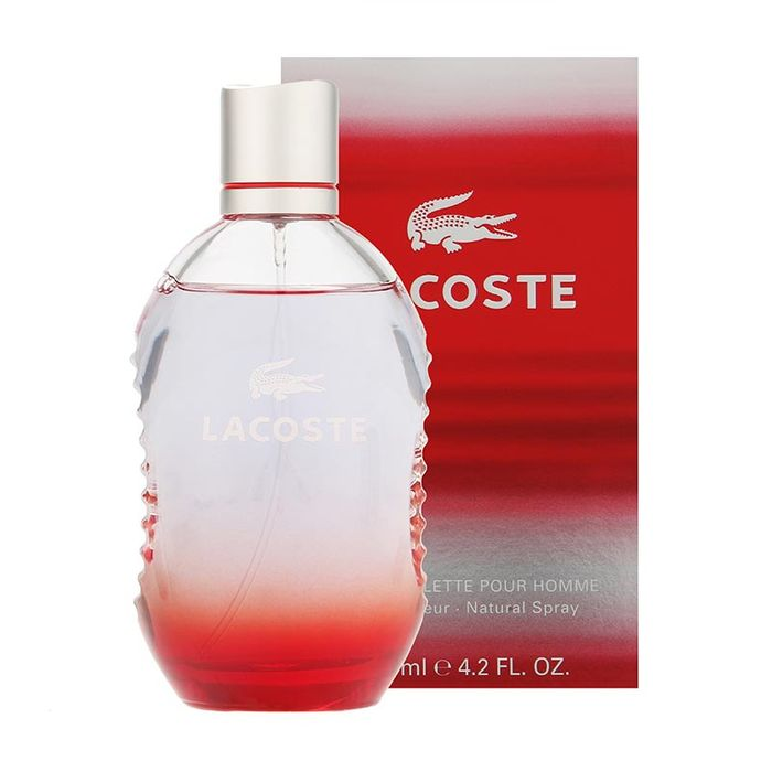 Cheap Lacoste Red Eau De Toilette Spray 125ml On Sale From £58 to £24.99