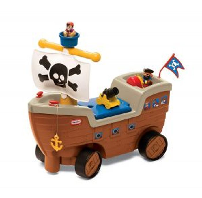 Best Price Little Tikes Play N Scoot Pirate Ship Kids Ride on Activity Play Set