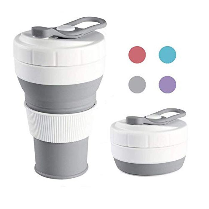 TEAMWIN Collapsible Silicone Portable Folding Travel Cup FREE DELIVERY