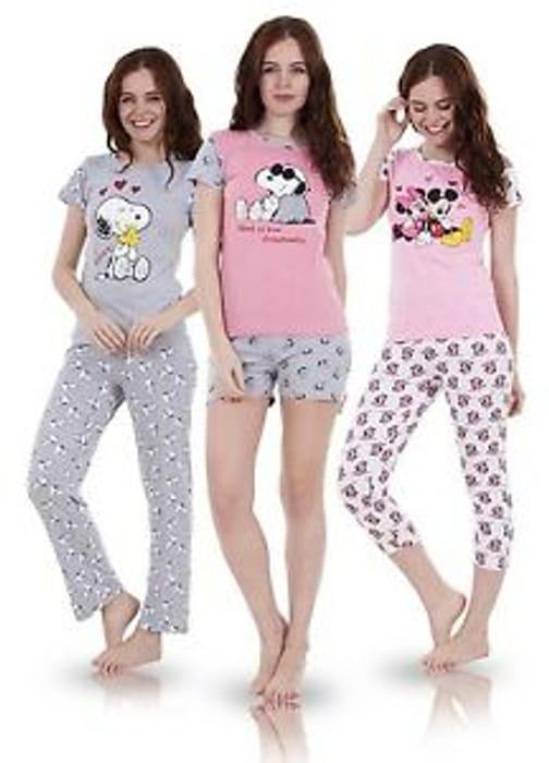 Ladies Snoopy Pyjamas Down From £20 to £6.99