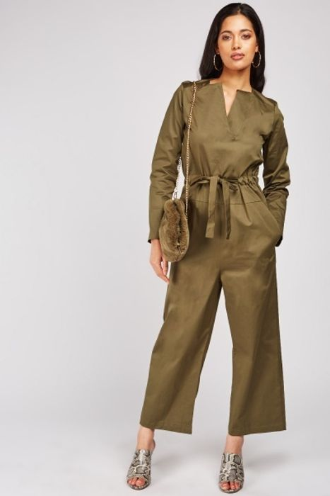 Slit Front Utlity Jumpsuit at Everything 5 Pounds