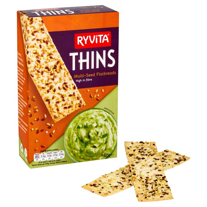Ryvita Multiseed Thins 125G HALF PRICE