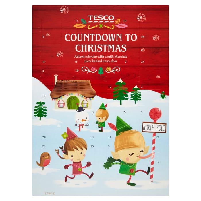 Tesco Countdown to Christmas Advent Calendar 75g