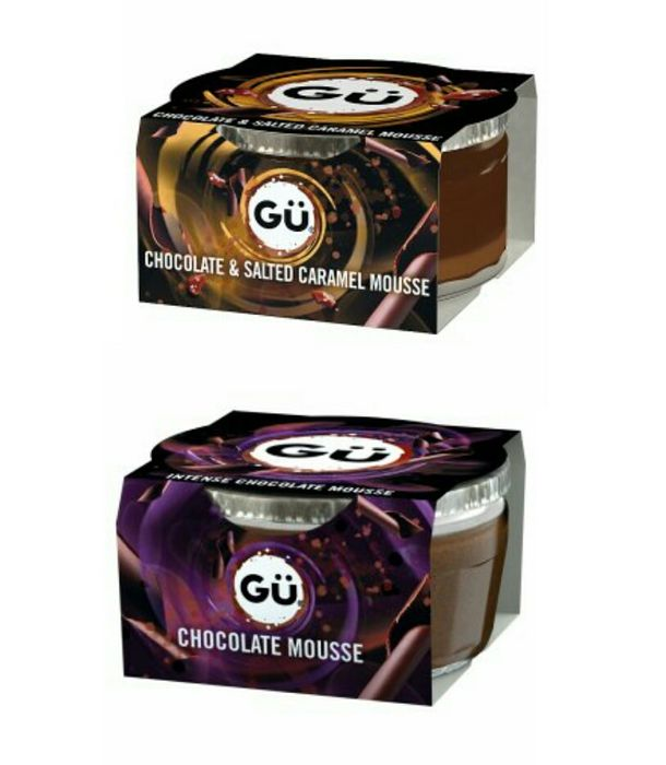 GU Intense Chocolate Mousse or GU Dark Chocolate and Salted Caramel Mousse