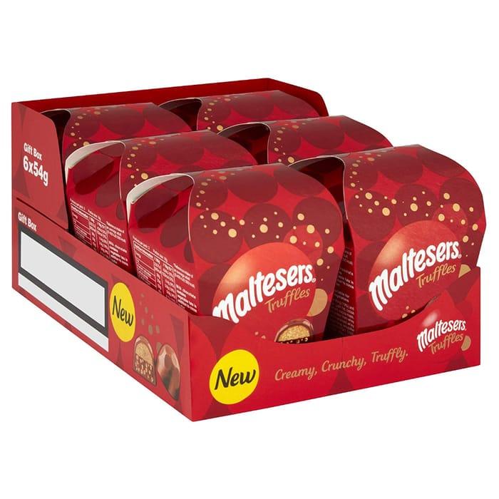 Best Ever Price! HALF PRICE! Maltesers Truffles Small Gift Box, 54 G, Pack of 6