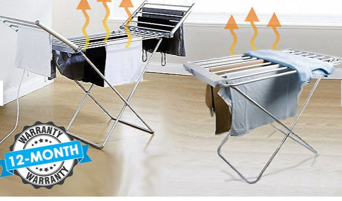 Heated Electric Clothes Airer - 2 Sizes from £19.99