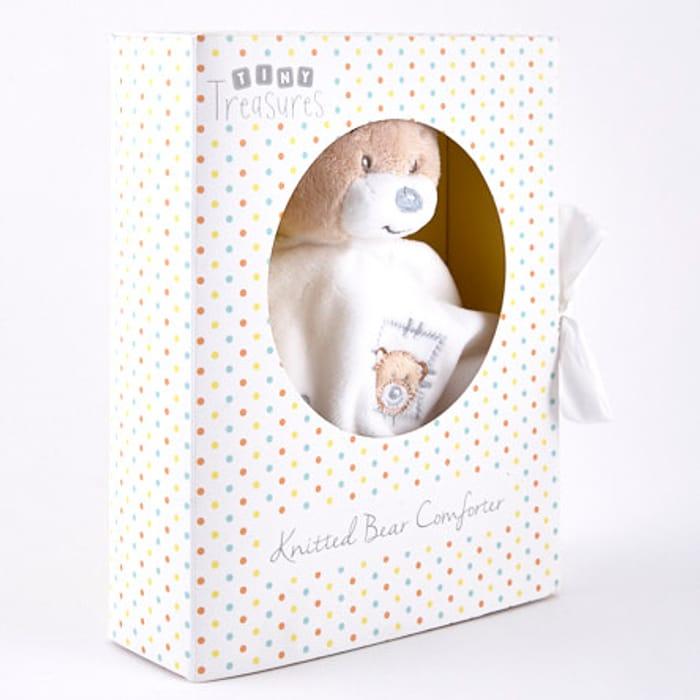 Tiny Treasures Plush Baby Comforter in Gift Box