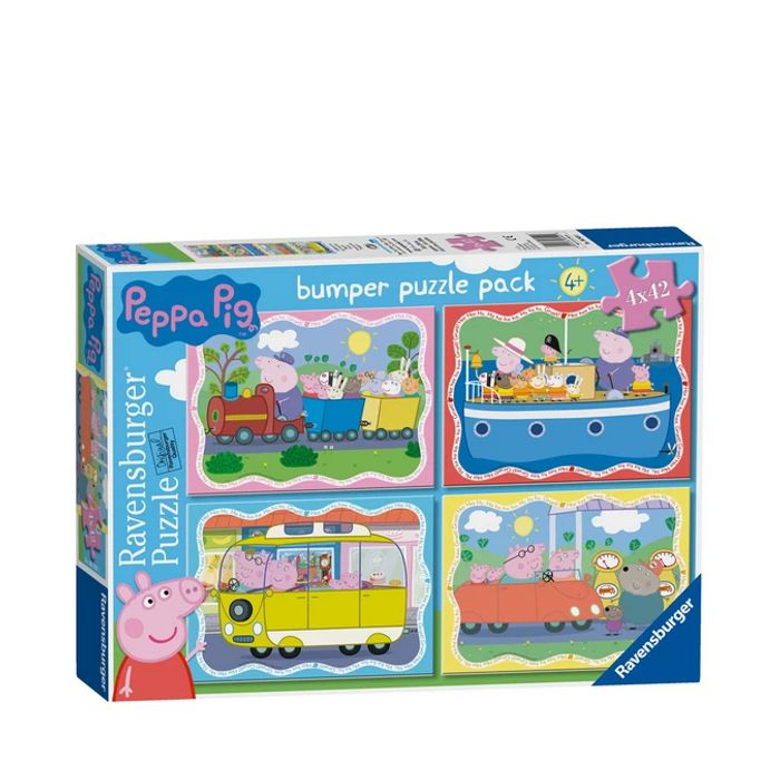 Peppa Pig Pack of 4 42 Piece Jigsaw Puzzles with 50% Discount - Great buy!