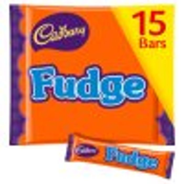 Cadbury Fudge Treat Size Chocolate Bars 15x 202g - Save £1!